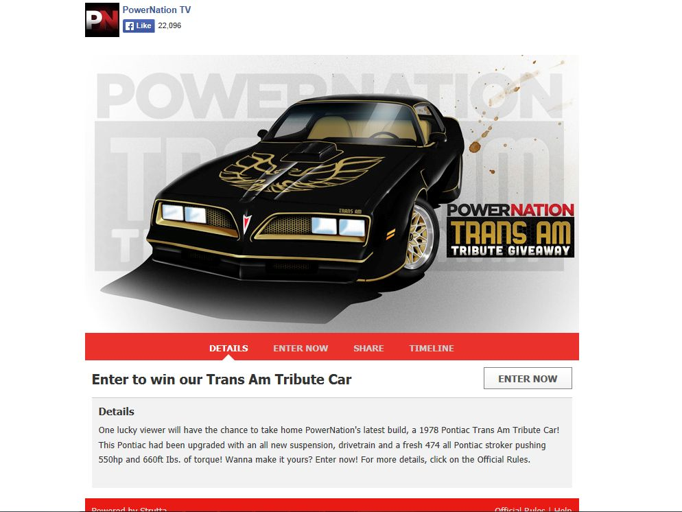 PowerNation The Trans Am Tribute Giveaway
