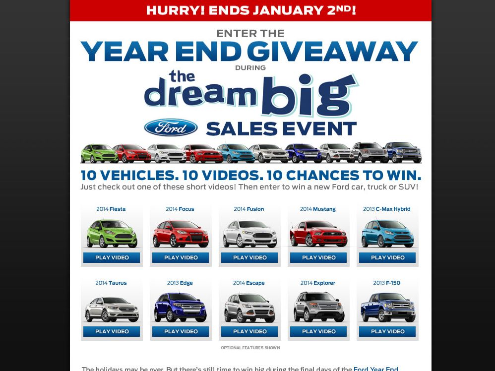 Ford 2013 Year End Giveaway