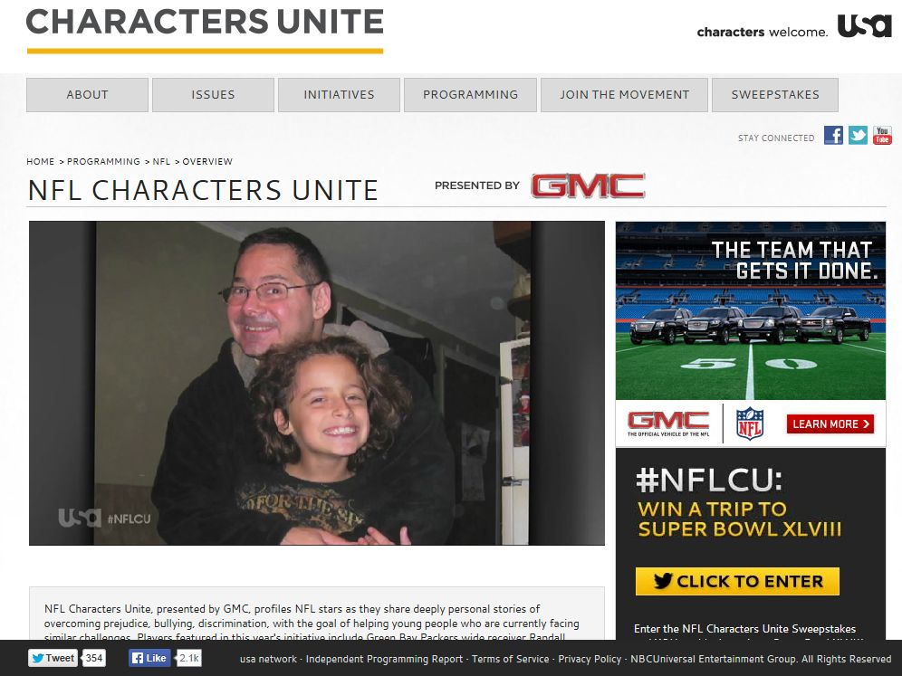NFL Characters Unite Sweepstakes