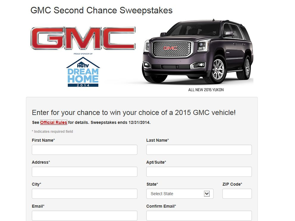 2013 – 2014 Buick GMC National Sweepstakes