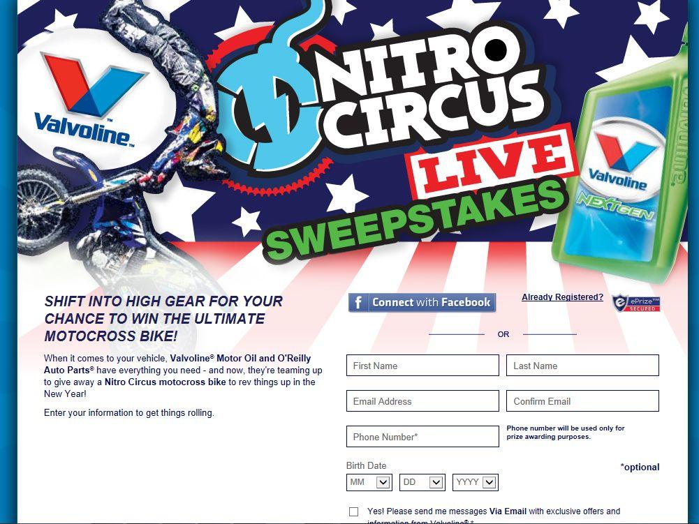 O'Reilly Nitro Circus LIVE Sweepstakes
