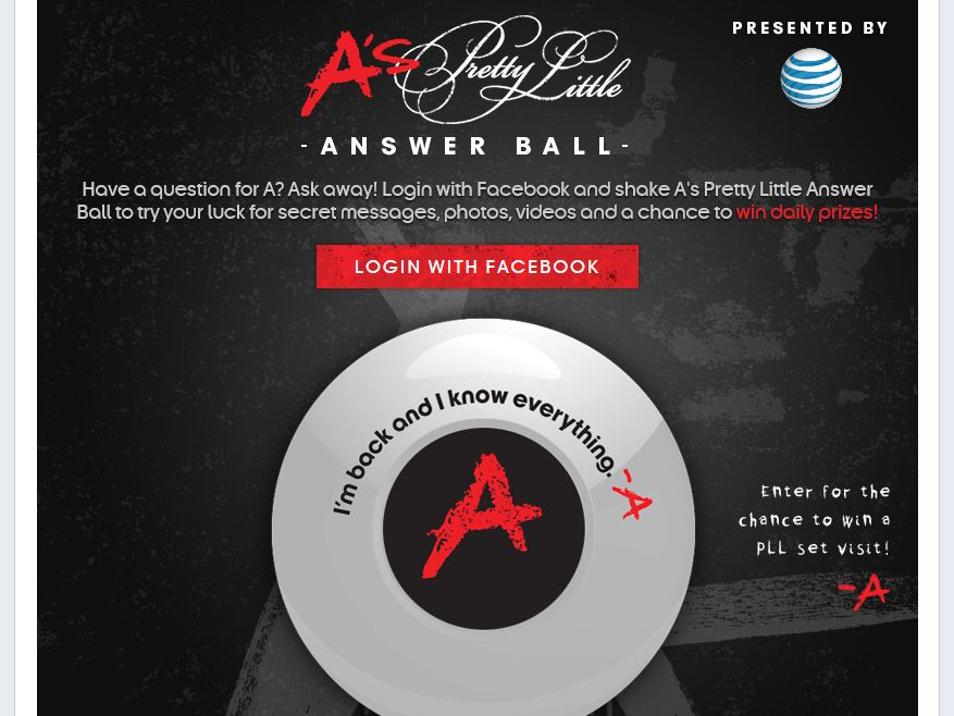 A's Pretty Little Answer Ball Sweepstakes