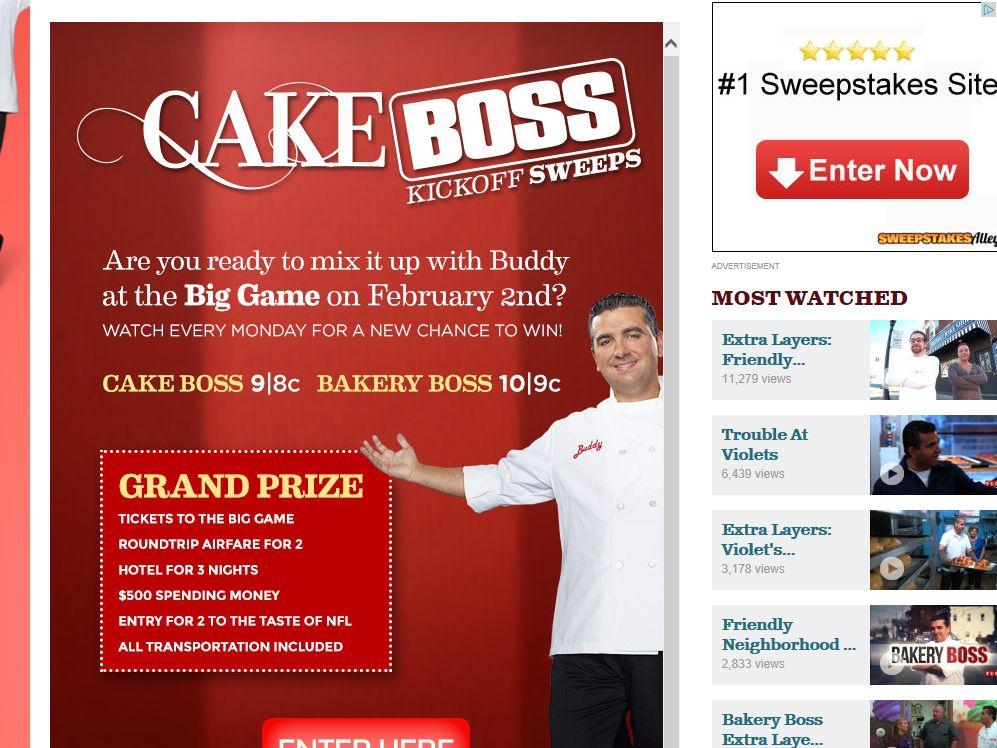 Cake Boss Kick-Off Sweepstakes