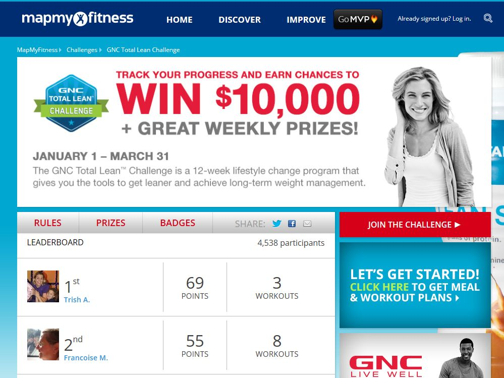 GNC Total Lean Challenge Sweepstakes