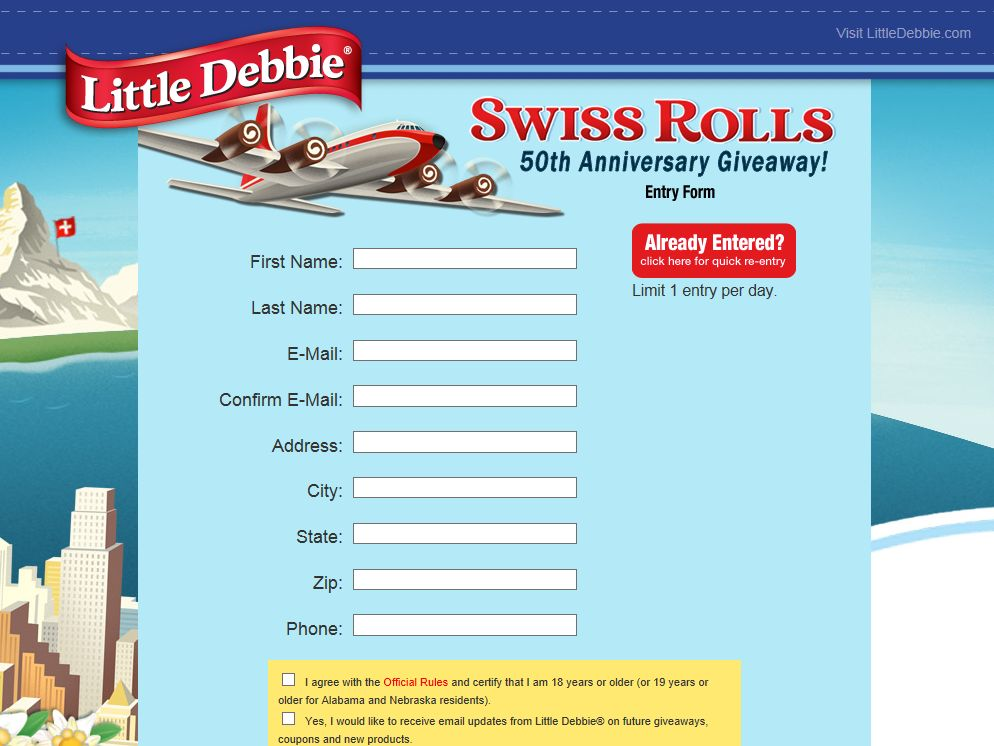 Swiss Rolls 50th Anniversary Giveaway