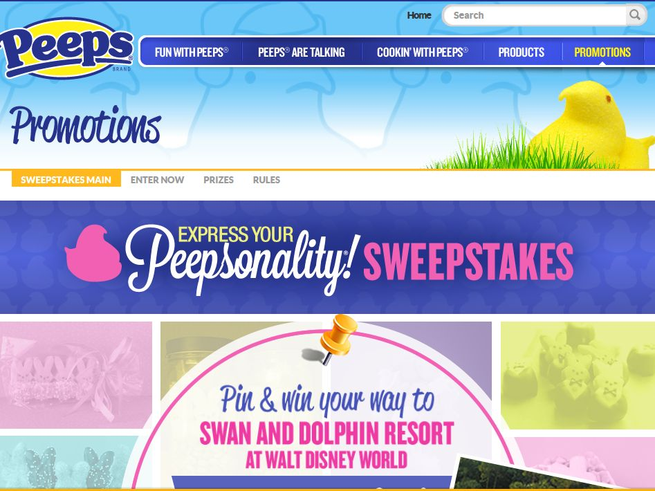 "Just Born's ""Express Your Peepsonality®"" Sweepstakes"