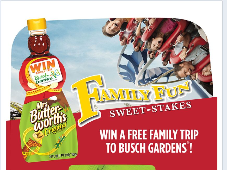 Mrs. Butterworth's Family Fun Sweet-stakes Sweepstakes