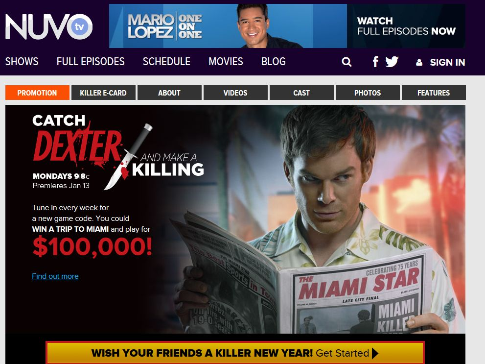 "NUVOtv ""Catch Dexter and Make a Killing"" Sweepstakes"