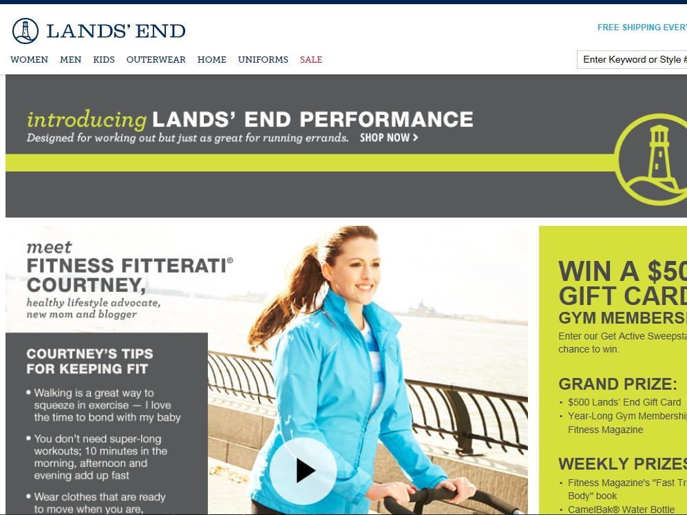 Land's End Get Active Sweepstakes