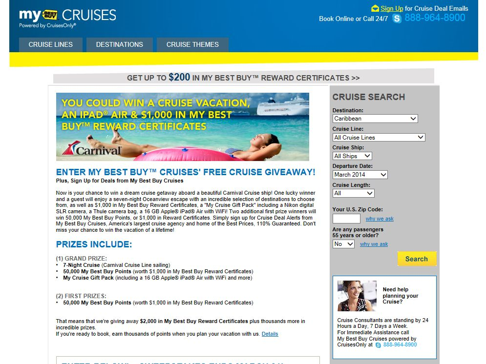 My Best Buy Cruises Free Cruise Giveaway