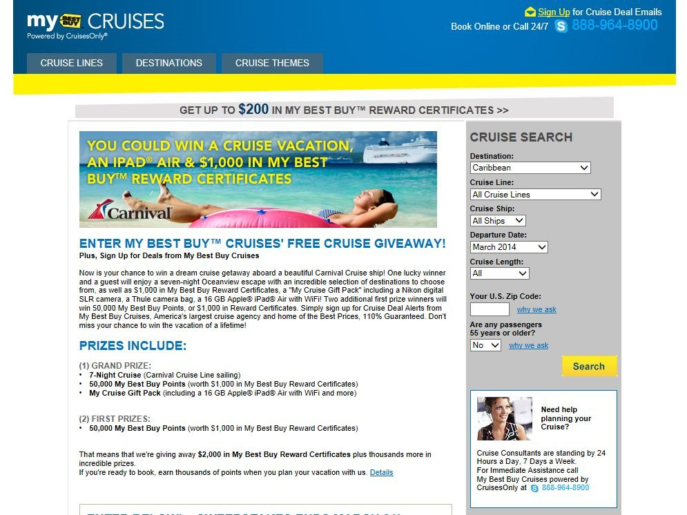 My Best Buy Cruises' Free Cruise Giveaway