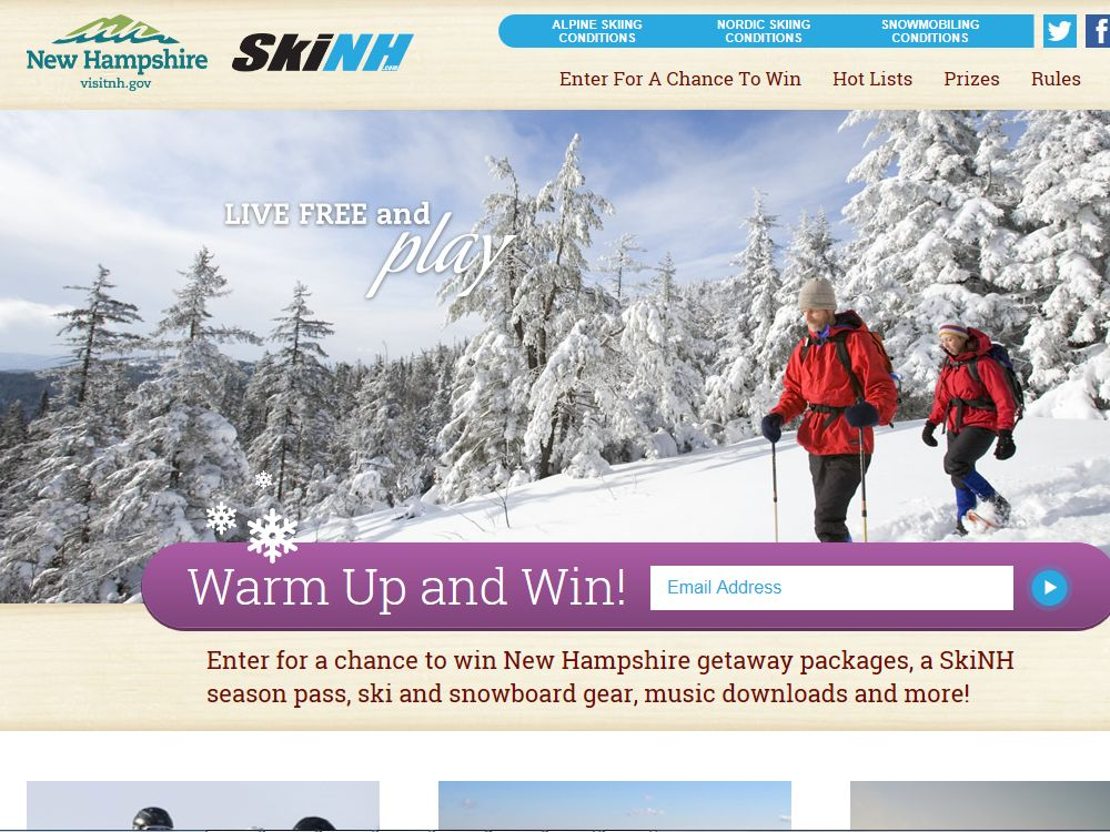 New Hampshire Warm Up and Win Sweepstakes