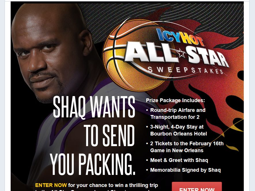 Icy Hot All-Star Sweepstakes