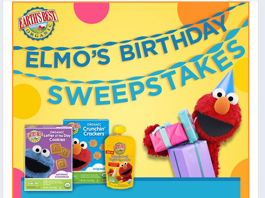 Earth's Best Elmo's Birthday Sweepstakes