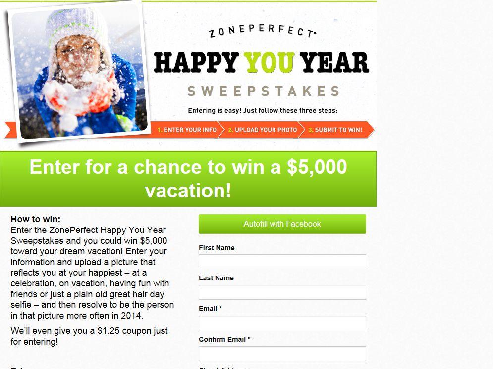 """ZonePerfect """"Happy You Year"""" Sweepstakes"""