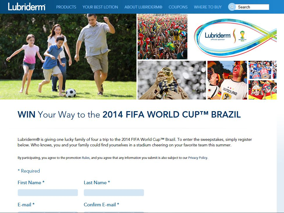 Fifa sponsor promotions and sweepstakes