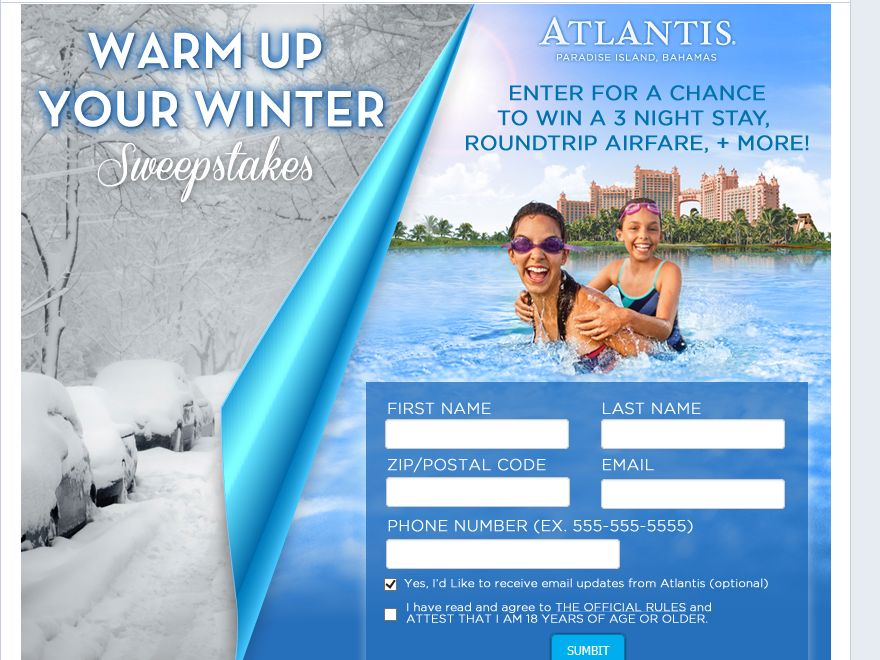 Warm up your Winter Sweepstakes