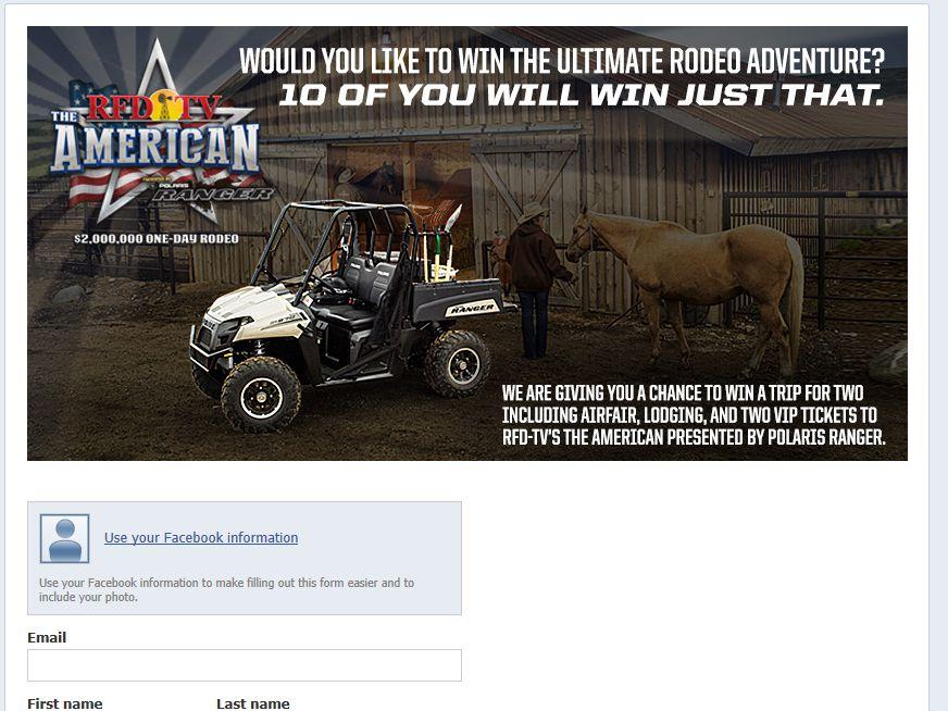 Polaris American Rodeo Giveaway