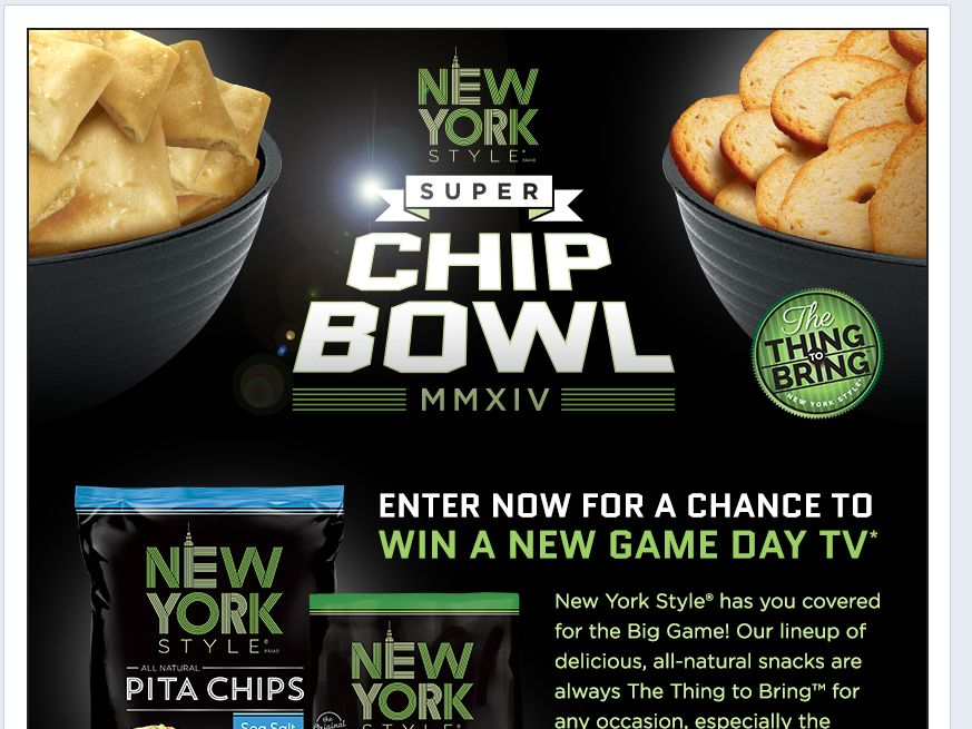 New York Style Chip Bowl Sweepstakes