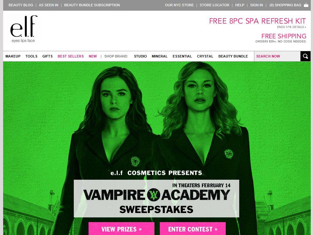 "e.l.f. Cosmetics ""Vampire Academy"" Sweepstakes"