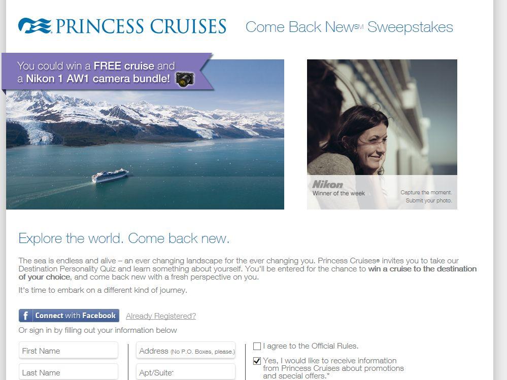 Princess Cruises Come Back New Sweepstakes