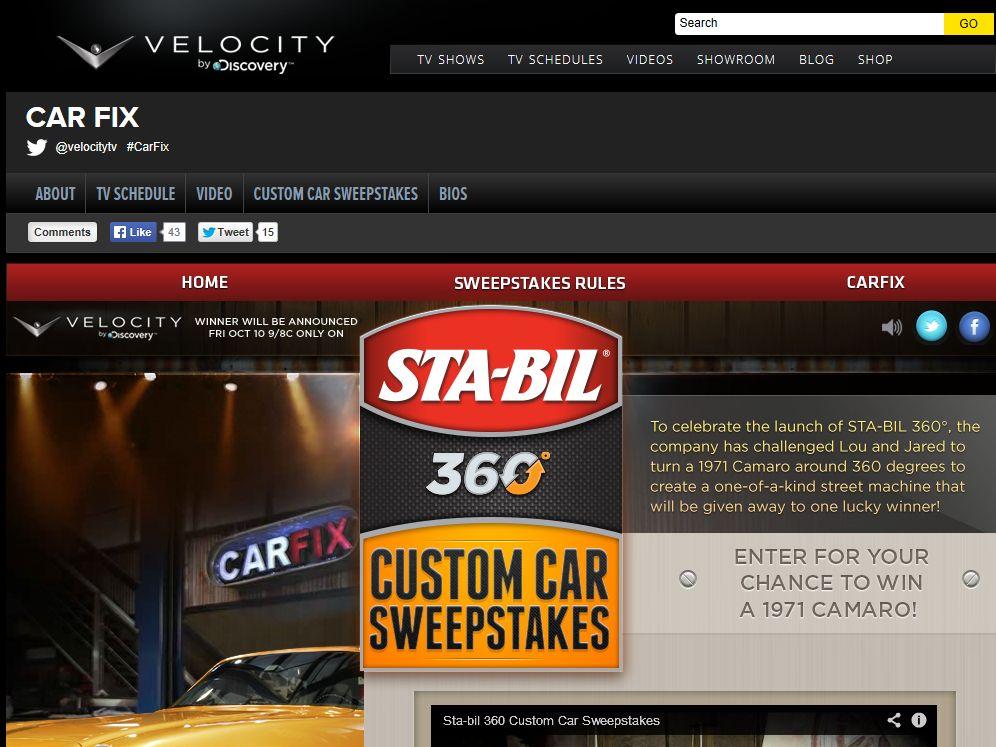 STA-Bil 360 Custom Car Sweepstakes