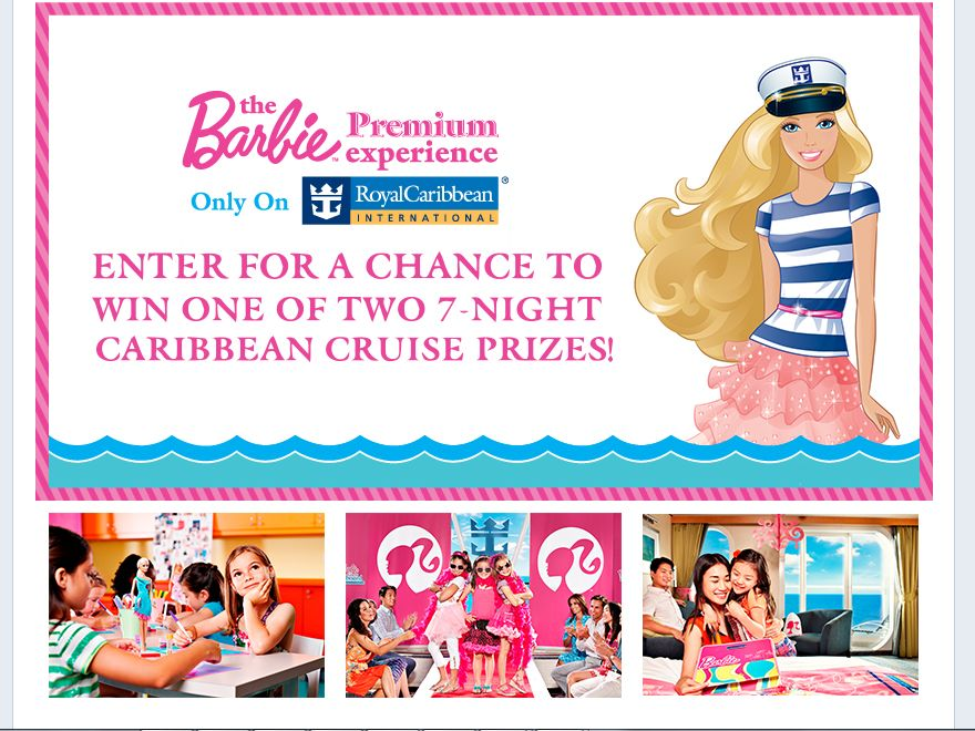 Barbie Premium Experience Royal Caribbean Sweepstakes