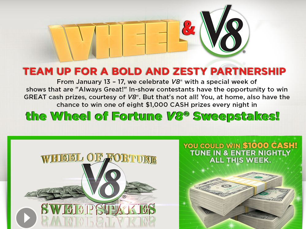 Wheel of Fortune V8 Sweepstakes