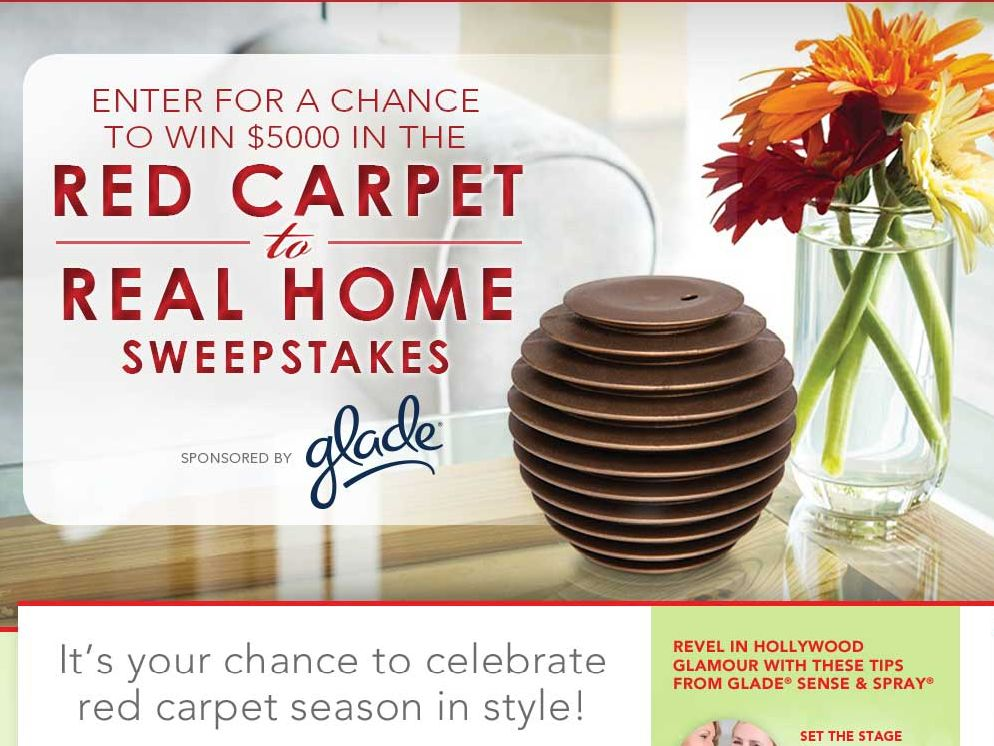 Glade Red Carpet to Real Home Sweepstakes