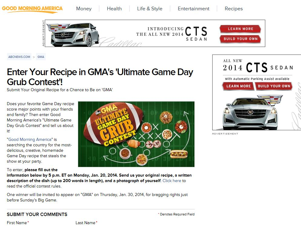 Good Morning America's Ultimate Game Day Grub Contest