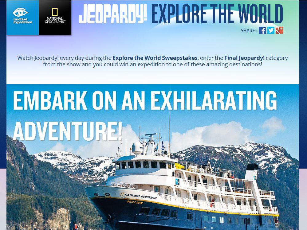 Jeoprady! Explore the World Sweepstakes