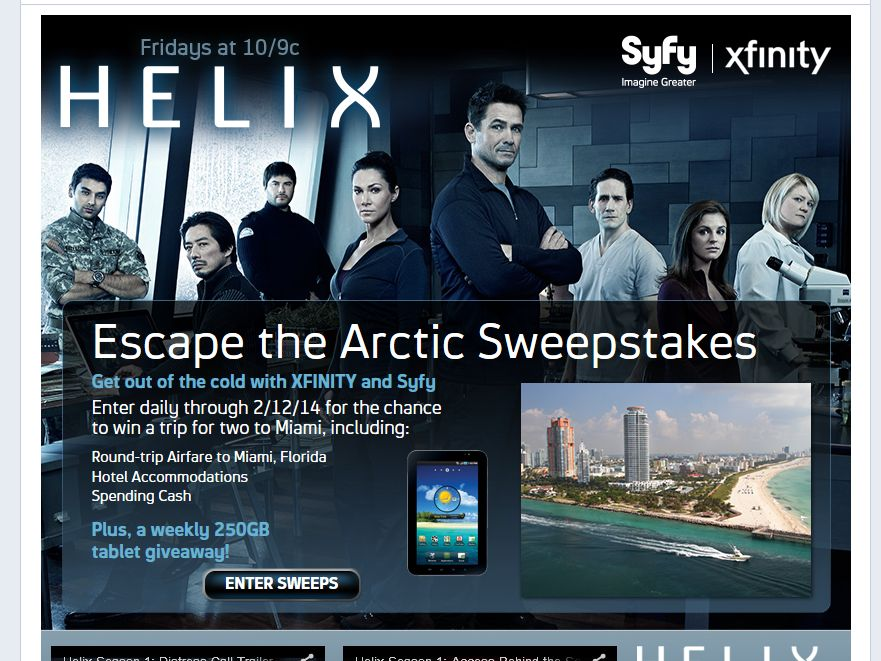 Helix Escape the Arctic Sweepstakes