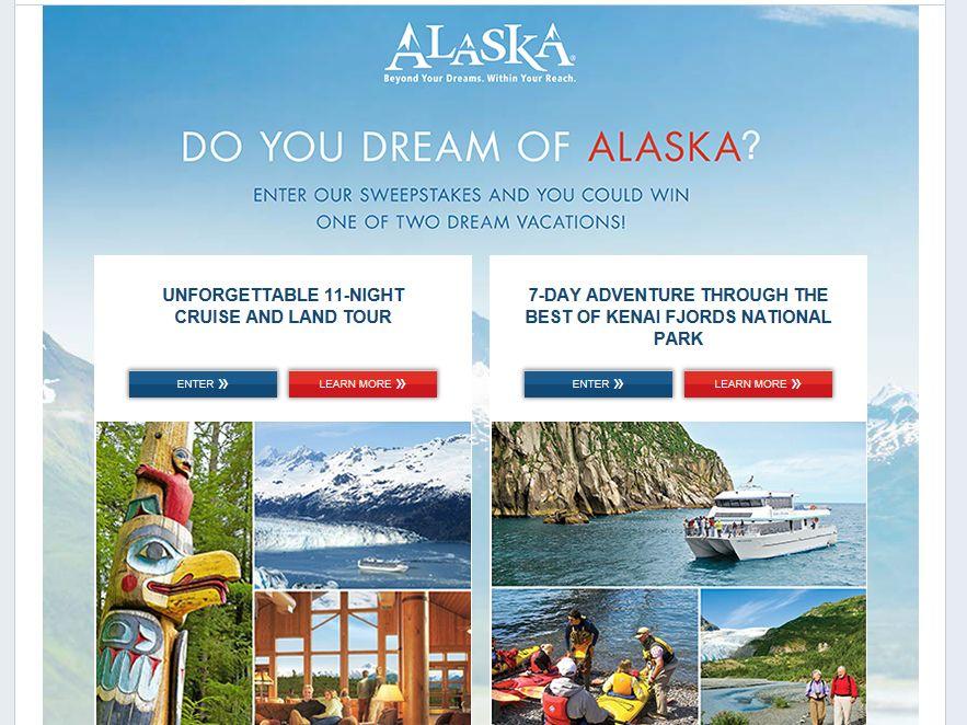 Do You Dream of Alaska? Sweepstakes