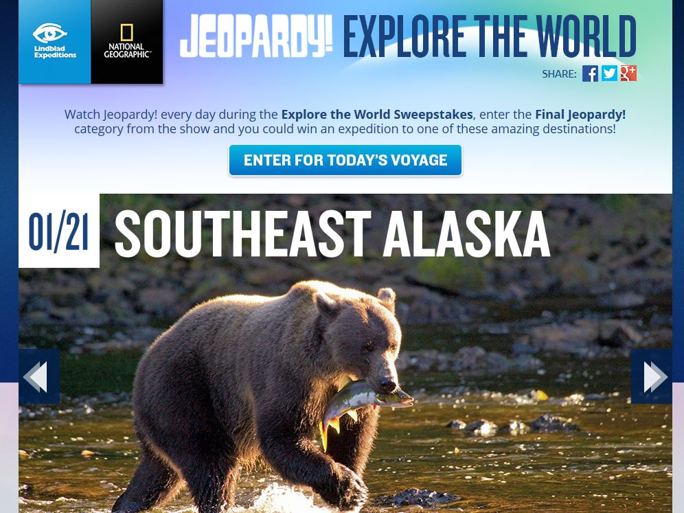 Jeopardy Explore the World Sweepstakes