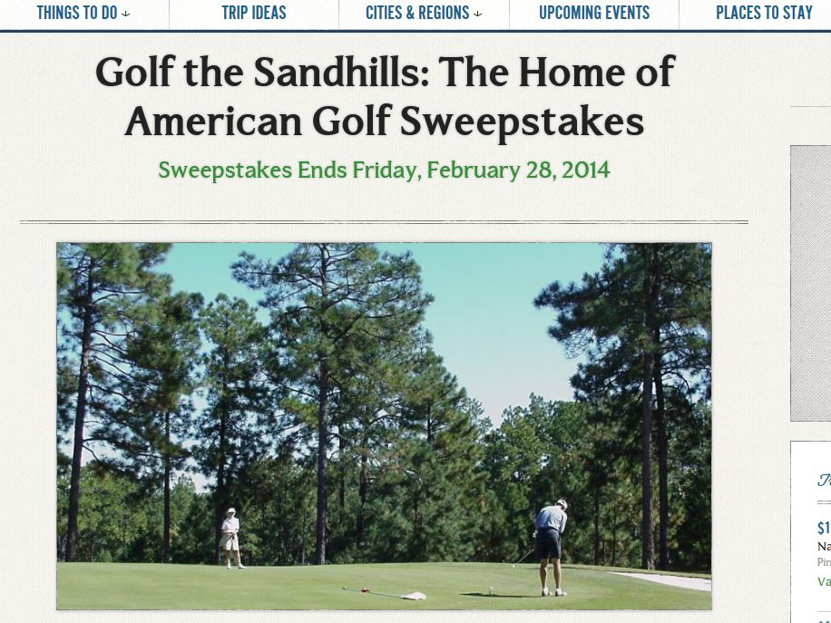 Golf the Sandhills: The Home of American Golf Sweepstakes