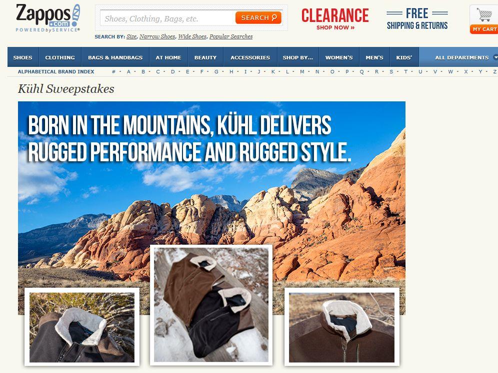 Zappos.com $500 Kuhl Shopping Spree Sweepstakes