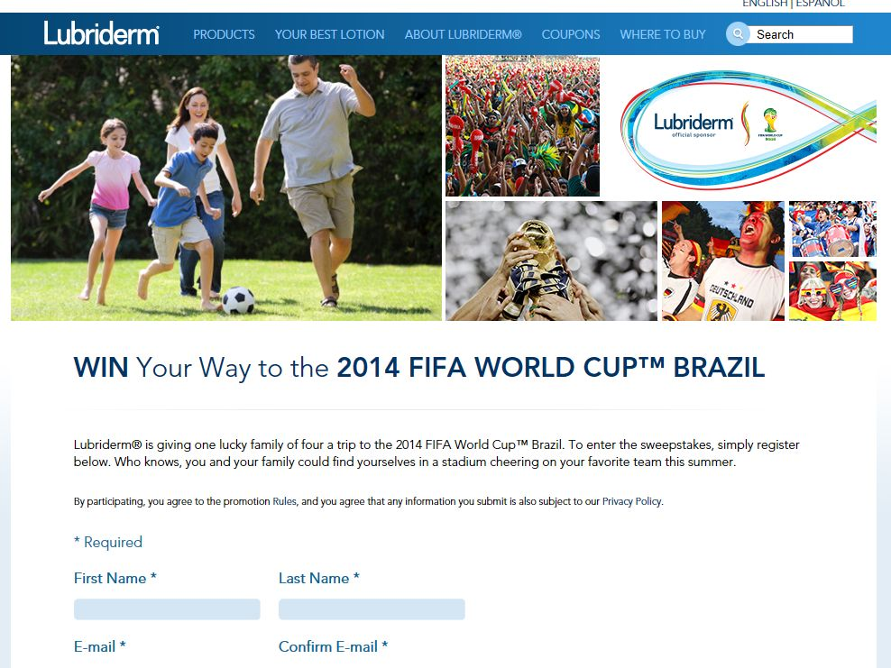 Lubriderm FIFA Sweepstakes