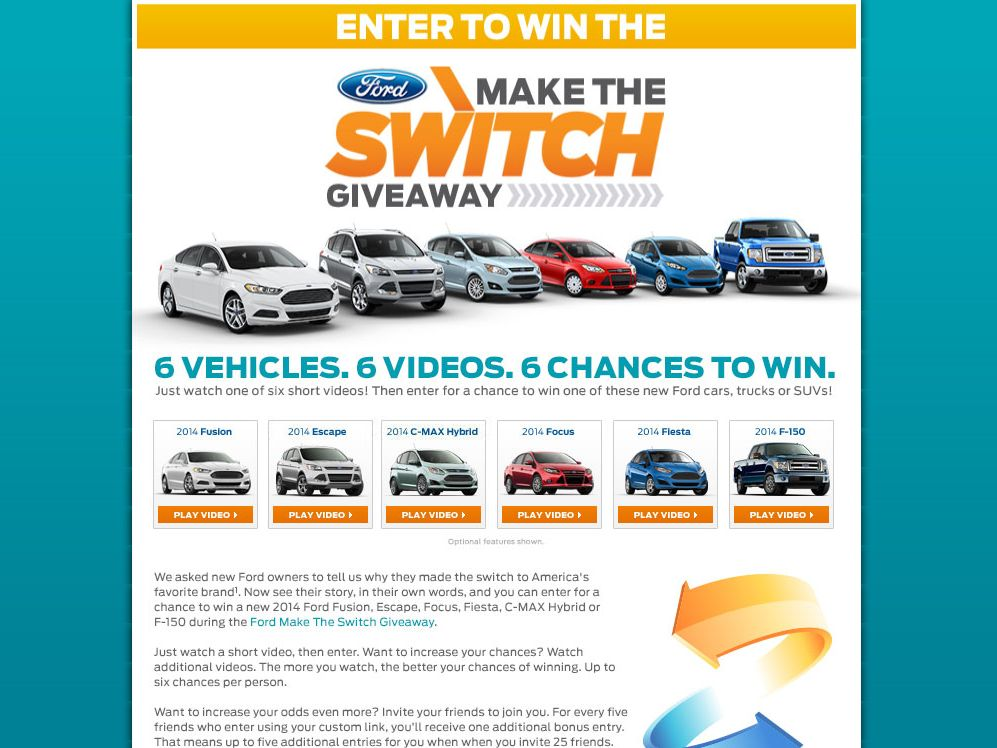 2014 Ford Make the Switch Giveaway