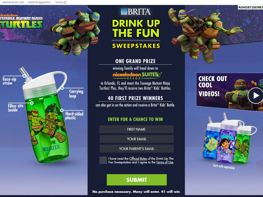 Brita Drink Up the Fun Sweepstakes