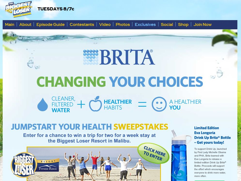 Brita Jump Start Your Health Sweepstakes