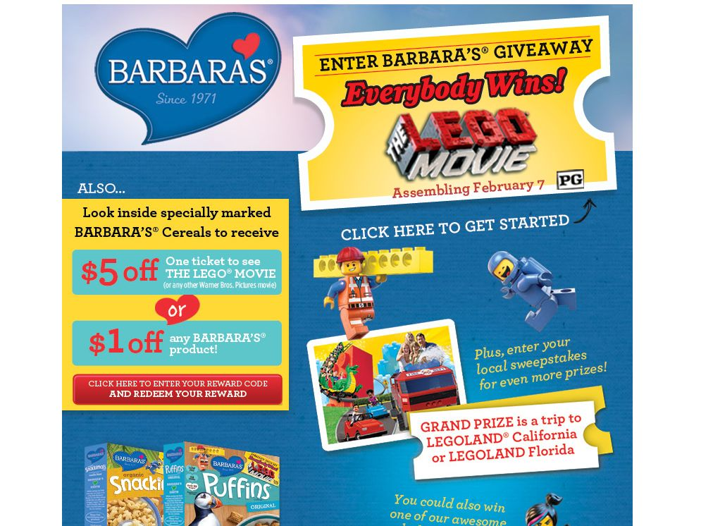 Barbara's THE LEGO MOVIE Giveaway