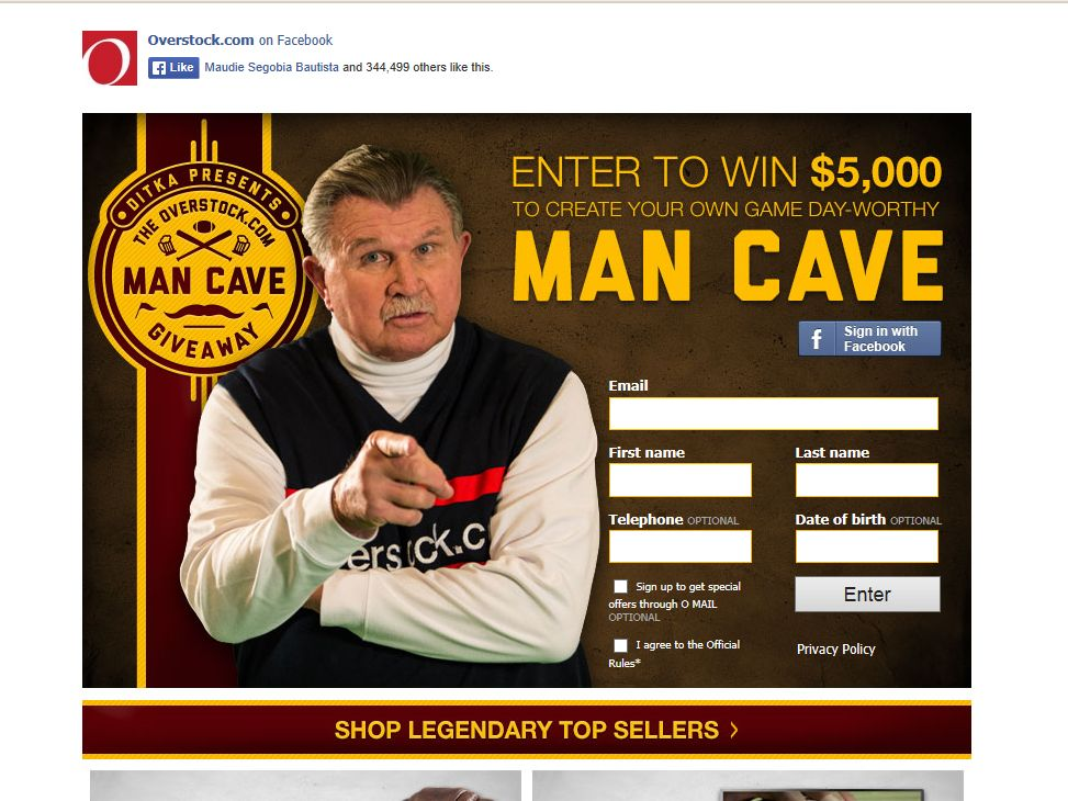 Overstock.com Man-Cave Giveaway Sweepstakes