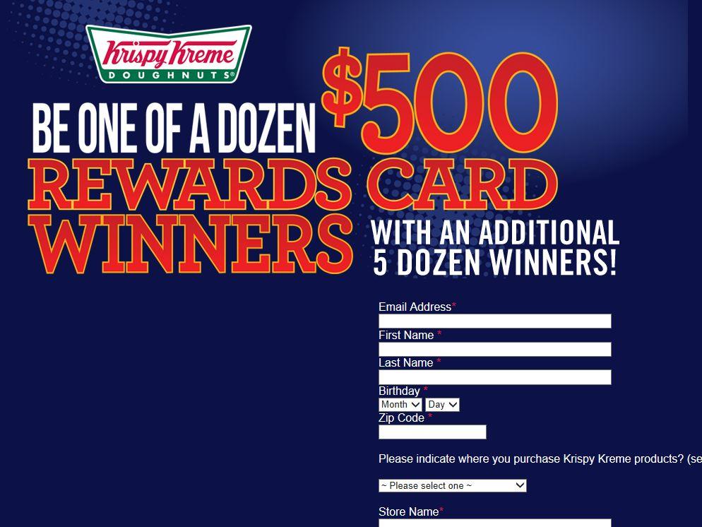 Krispy Kreme Dozens Sweepstakes