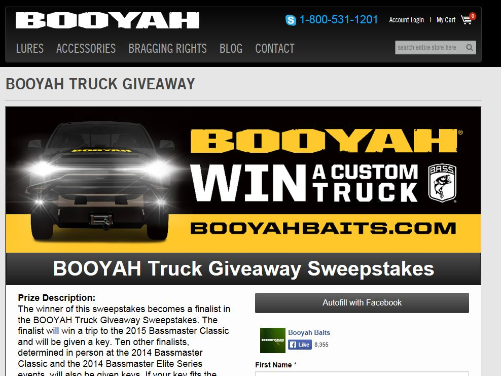 PRADCO Truck Giveaway Sweepstakes