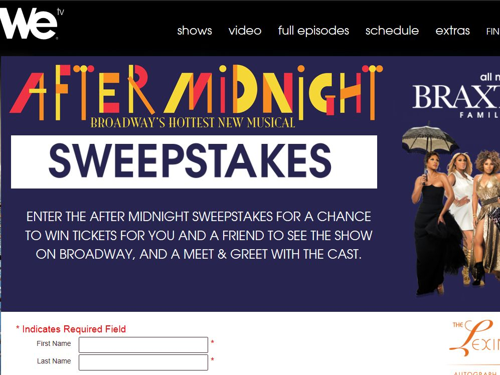 WE tv After Midnight Sweepstakes