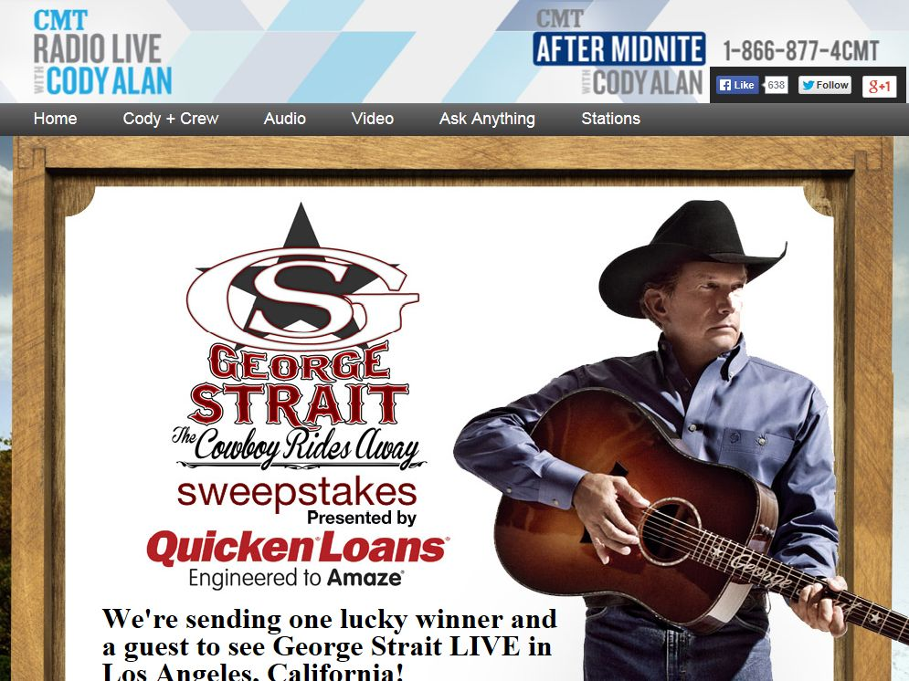 George Strait The Cowboy Rides Away Sweepstakes