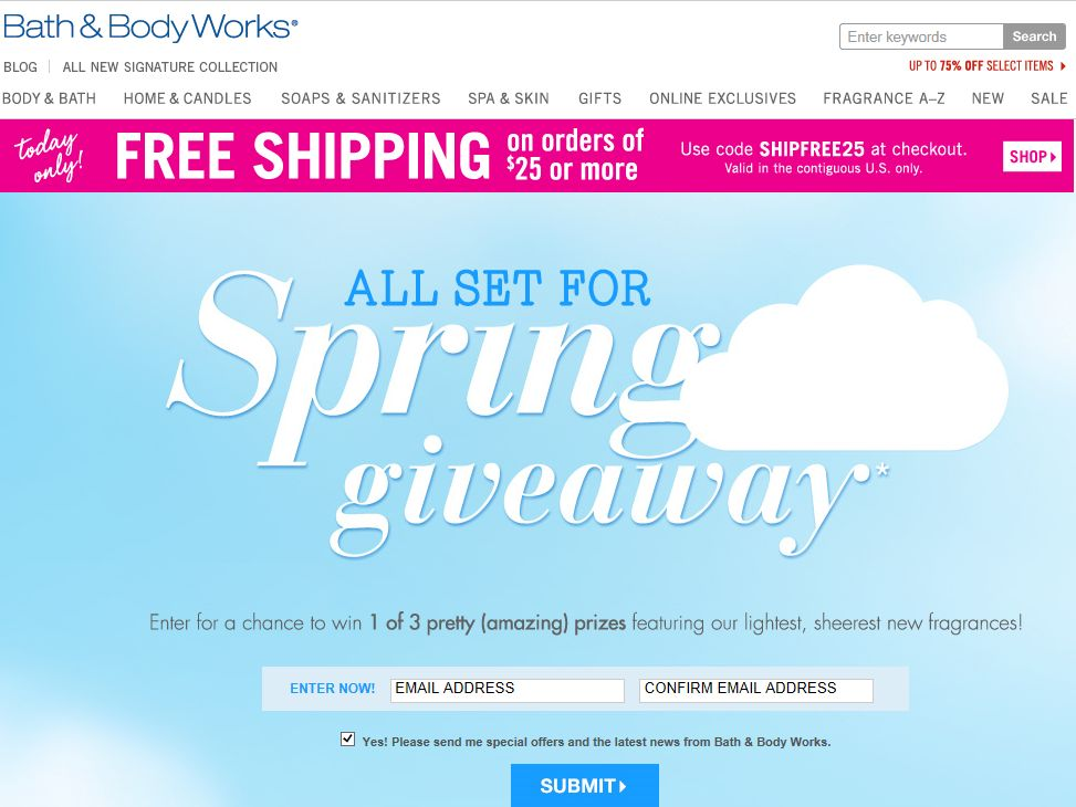 Bath & Body Works All Ready for Spring Giveaway