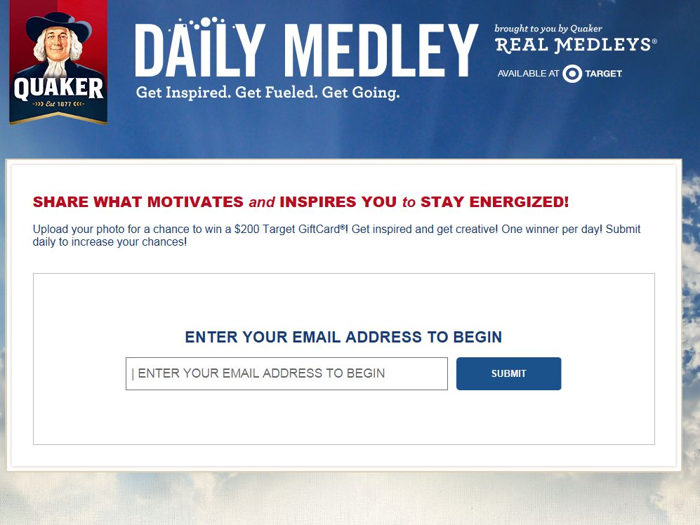 Quaker Oats Daily Medley Sweepstakes