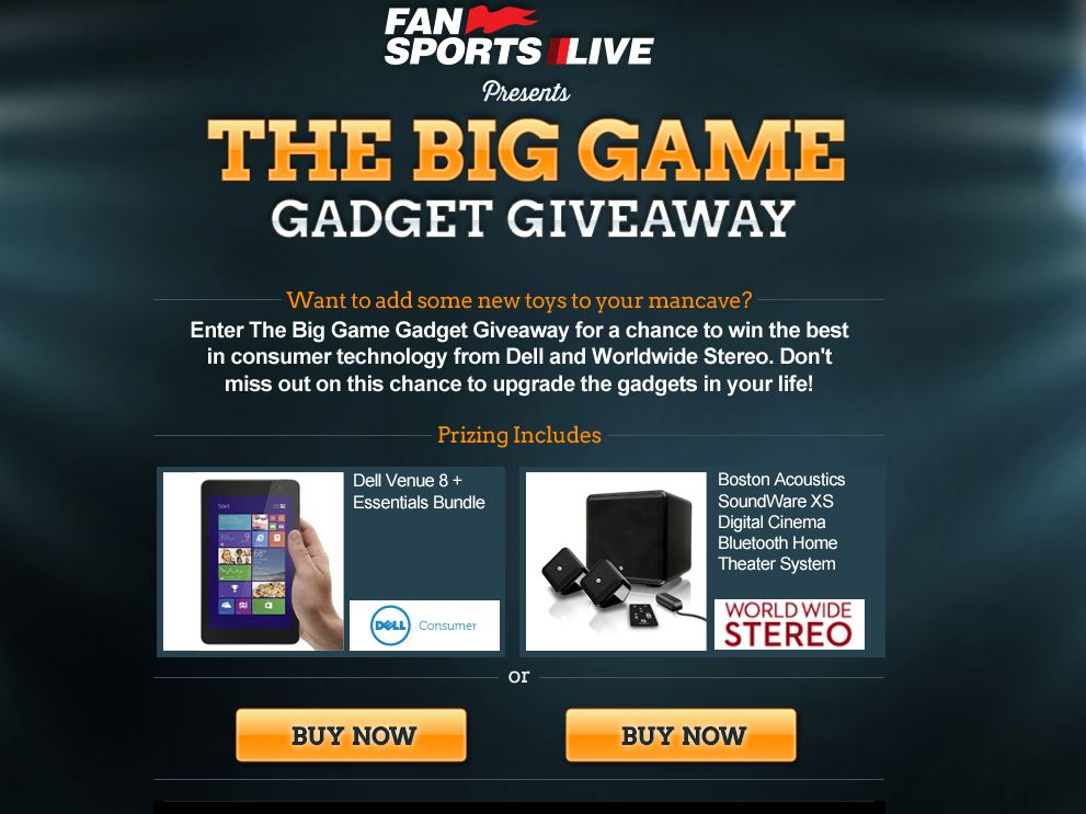 The Big Game Gadget Giveaway