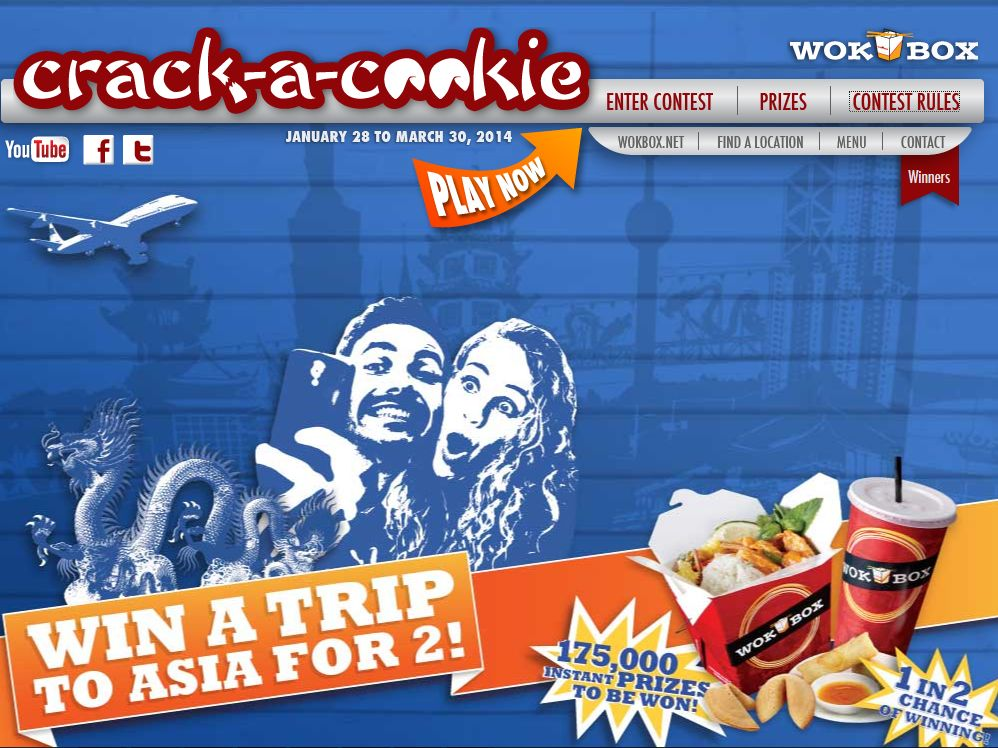 Crack-A-Cookie Online Contest – Limited States